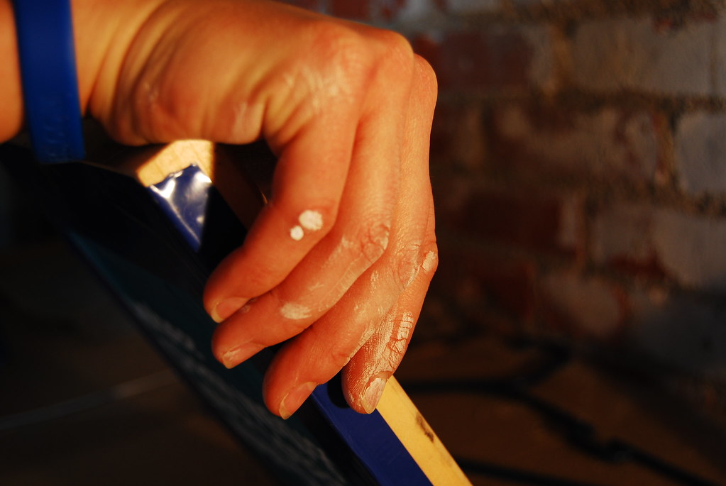 screen printing hand